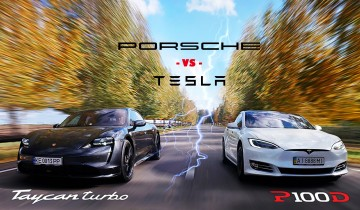 Porsche Taycan Turbo vs Tesla Model S P100D